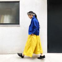 i c h i 181228 Cotton Typewriter pants / Yellow