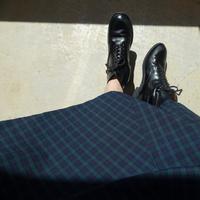 ichi 210405 Patchwork Flare Skirt / C : BLACK WATCH