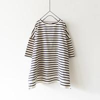 ichi 200158・200160 Cotton Pullover / BLACK・NATURAL × NAVY