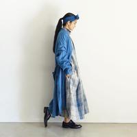 ichiAntiquités 600935 INDIGO Linen Denim Robe / A : LIGHT