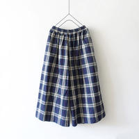 ichi 200334 Linen Cotton Check Pants / 2COLOR