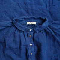 ichiAntiquités 100604 Linen Henly Dress / INDIGO