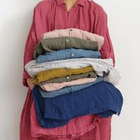 ichiAntiquités 700301 Color Linen Shirt / 2 COLORS : CORAL PINK・PINK
