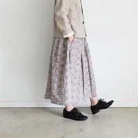ichi 191015 Flower Print Skirt  / 3 COLORS