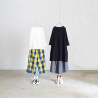 ichi 190443 Cotton Long Pullover / BLACK