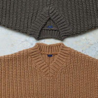ichi 190576 V neck Knit Pullover / CAMEL・OLIVE