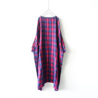 190410 Wool Gauze Check One Piece / PINK