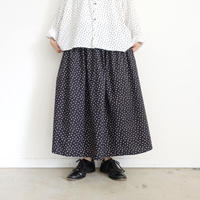 ichi 200404 Dot Print Skirt / B : BLACK SMALL DOT