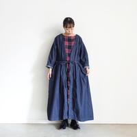 ichi 210523 Indigo Denim Long Cardigan / B : DARK