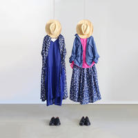 ichiAntiquités 600123 Flower Linen Dress / NAVY