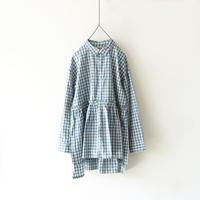 ichiAntiquités 500609 INDIGO Selvage Gingham Shirt / BLUE