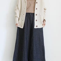 ichi 200435 Wide Pants / B : BLACK