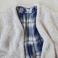 ichiAntiquités  700361 Snow nep Knit Cardigan  /  A : NATURAL