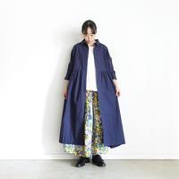 ichi 201104 Cotton Typewriter Shirt One Piece / E : NAVY