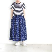 i c h i 181217 Indigo Flower Skirt