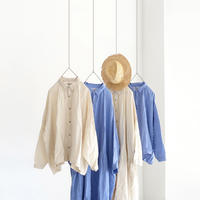 ichiAntiquités 500901 Color Linen Shirt / CREAM