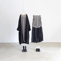 ichiAntiquités 500356 Linen Wide Pullover / BORDER