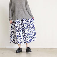 i c h i 181108 Cotton Flower Skirt / Blue