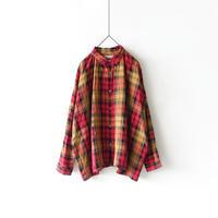 ichiAntiquités 600317 Linen Classic Tartan Shirt / RED