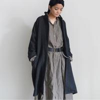 ichiAntiquités  700330 Merino Wool ORIHIMEDAKI Coat / C : BLACK