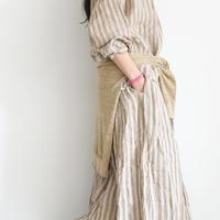 ichiAntiquités 100970  Linen Knit Cardigan / BEIGE