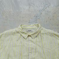 ichiAntiquités 500135 Vacance Linen Stripe Shirt Dress / LEMON STRIPE