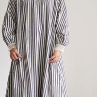 i c h i 181024 C/L Stripe Dress / Blue
