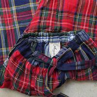ichiAntiquités 500936 Linen Tartan Patchwork Pants