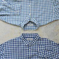 ichiAntiquités 500609 INDIGO Selvage Gingham Shirt / NAVY