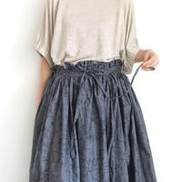 【ONLINE LIMITED】 ichi 210134 Flower Print Wrap Skirt / 2 COLORS