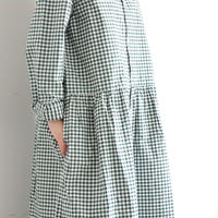 i c h i 181114 Gingham Check Shirts Dress