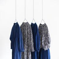ONLINE LIMITED  ichiAntiquités 600339 Linen Flower Shirt / NAVY