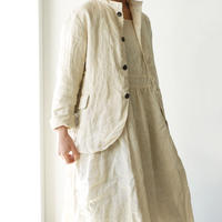ichiAntiquités 500131 Natural Handdye Linen Jacket / PLANTS BEIGE
