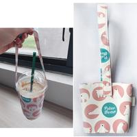 タピオカミルクティーに最適 キュートなカップキャリアバッグ