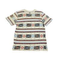 【アメリカ古着】 ナイス幾何学ボーダー柄! Tシャツ XLサイズ