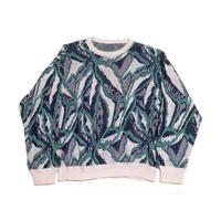 【ヨーロッパ古着】 西ドイツ製 リネン混 コットンニット セーター