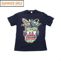 【ウォリアーソウル】 90s 民族調プリント Tシャツ 珍種