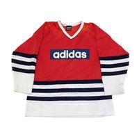 【アディダス】 90s ホッケーTシャツ ビッグシルエット! 珍種!
