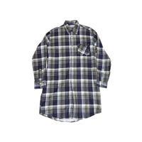 【ヨーロッパ古着】 プリントネル地 グランパシャツ Lサイズ 前開き