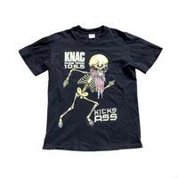 【PUSHEADデザイン】 80s KNAC スカルプリント Tシャツ 超稀少!