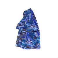 【ヨーロッパ古着】 レトロな総柄 レーヨンシャツ XLサイズ