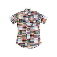 【CLEVE】 インド綿! パッチワーク 半袖シャツ XSサイズ