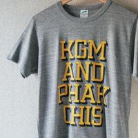 KGM & PHAKCHIS COLLEGE TEE  (YELLOW)