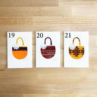 小川和紙×グアテマラの民族衣装クラフトカード(Dグループ3種)