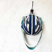 314|アフリカ・バウレ族の織物(グリーン)ボニーバッグ(size/M)