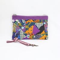 077|cut 布のかけらを集めたポーチ(Kenya)