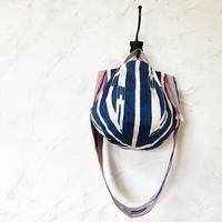 315|アフリカ・バウレ族の織物(ピンク)ボニーバッグ(size/M)