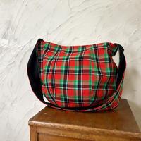 207|ケニア・マサイシュカ・ボニーバッグLサイズ(赤×緑)