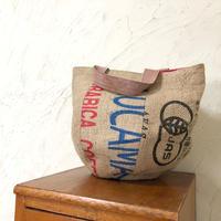 348|東ティモールの麻袋  レジャーバッグ(size/L)