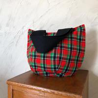 202|ケニア・マサイシュカ・ボニーバッグLサイズ(赤×緑)